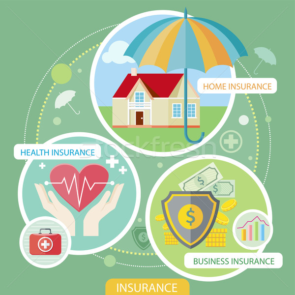 Insurance icons set Stock photo © robuart