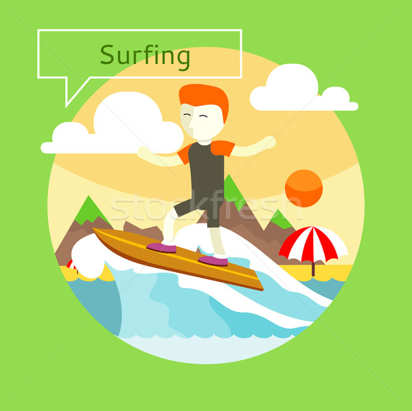 Surfing concept Stock photo © robuart