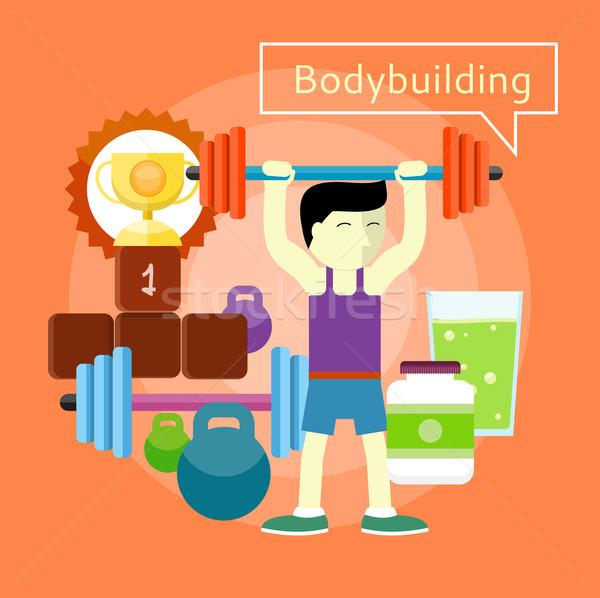 Bodybuilding Concept Stock photo © robuart