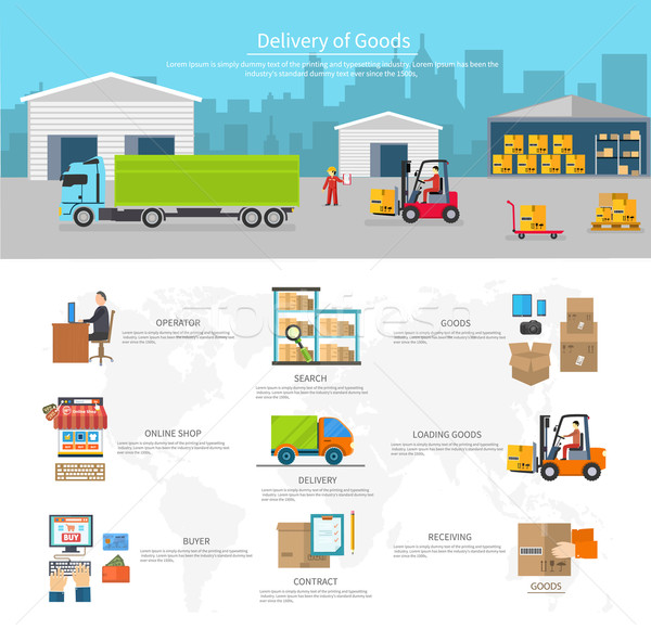 Delivery of Goods Logistics and Transportation Stock photo © robuart