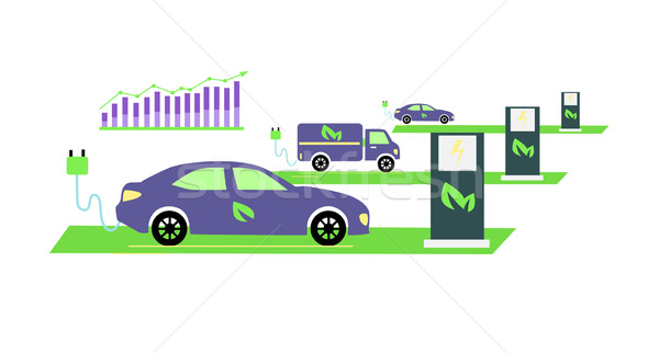 Icône croissant popularité électriques véhicules développement Photo stock © robuart
