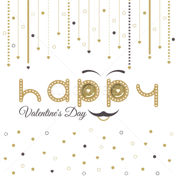 Valentines Day Card Lettering Red Frame Stock photo © robuart