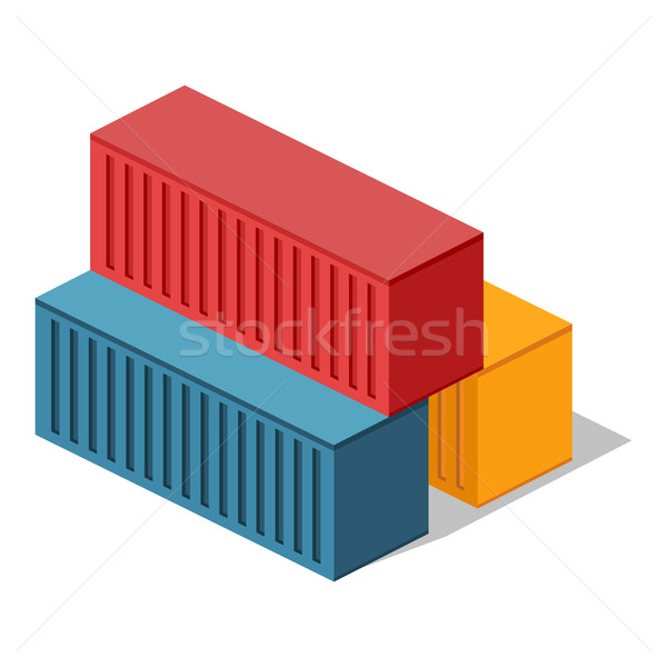 Isometric 3d Container Delivery Stock photo © robuart