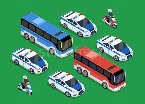 Policía coche diseno 3D guardia Foto stock © robuart