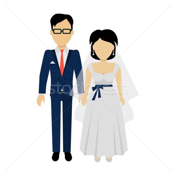 Newlyweds Couple Design Banner Concept Stock photo © robuart