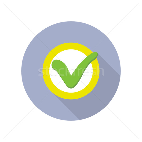 Strategic Management Web Button with Check Sign. Stock photo © robuart
