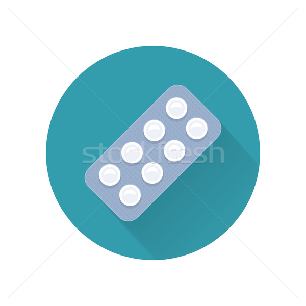 Pills Vector Illustration In Flat Style Design Stock photo © robuart