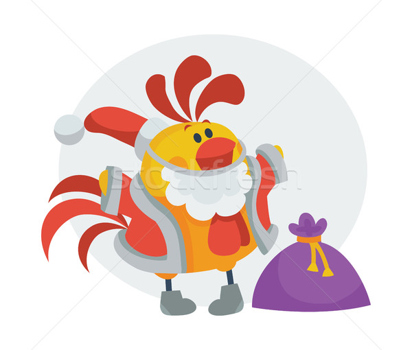 петух птица ткань сумку представляет Сток-фото © robuart