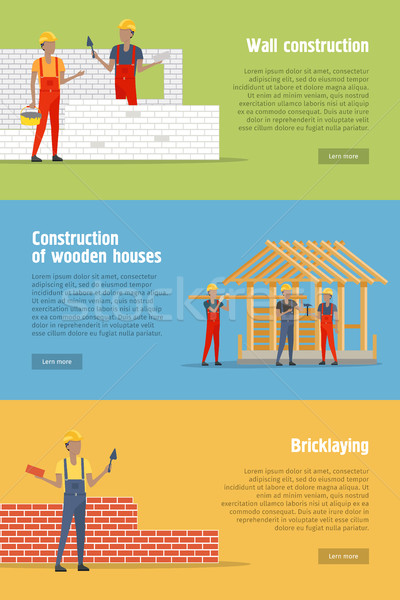 Set of Construction Conceptual Vector Banners Stock photo © robuart