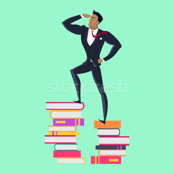 Top of Knowledge Concept Vector in Flat Design. Stock photo © robuart