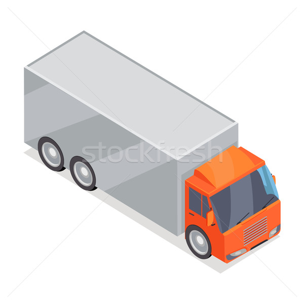 トラック ベクトルのアイコン アイソメトリック 投影 アイコン ストックフォト © robuart