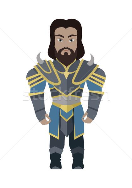 Fantasie ridder karakter vector stijl ontwerp Stockfoto © robuart