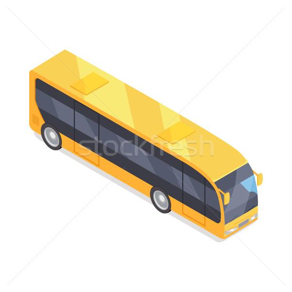 Bus vecteur icône isométrique projection ville icône Photo stock © robuart