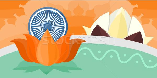 India Travel Poster Stock photo © robuart
