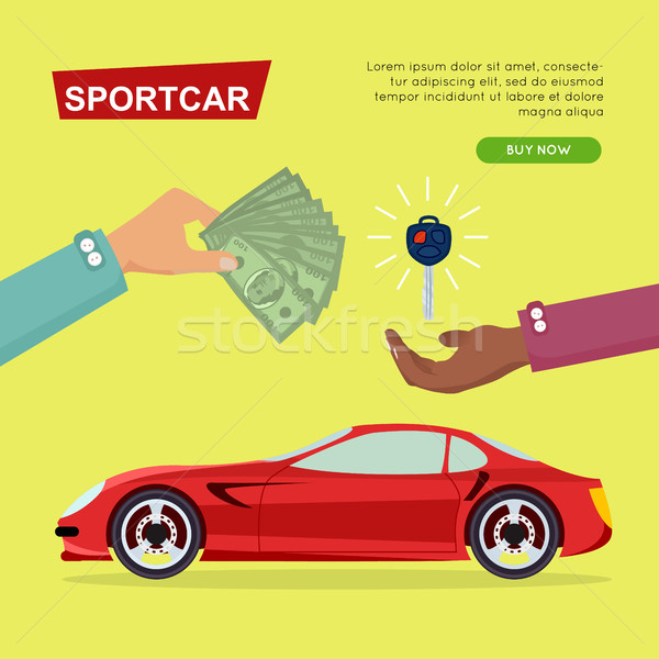 Buying Sportcar Online. Car Sale. Web Banner. Stock photo © robuart