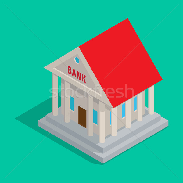 Bank Building in Ancient Style Isometric Icon Stock photo © robuart
