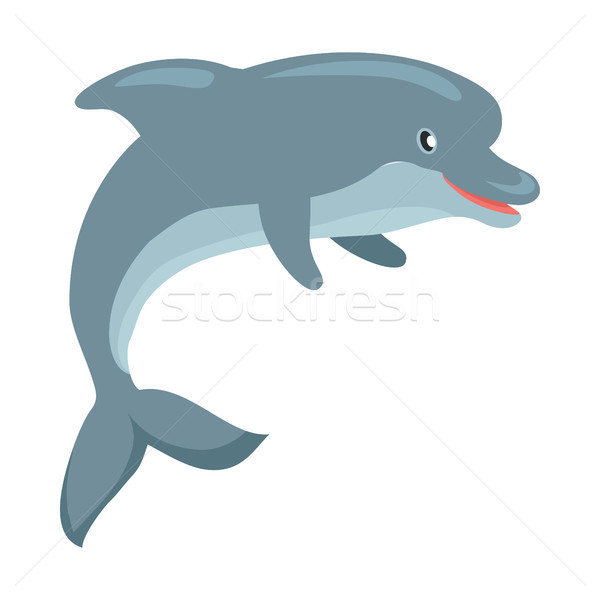 Dolphin Cartoon Flat Vector Illustration Stock photo © robuart