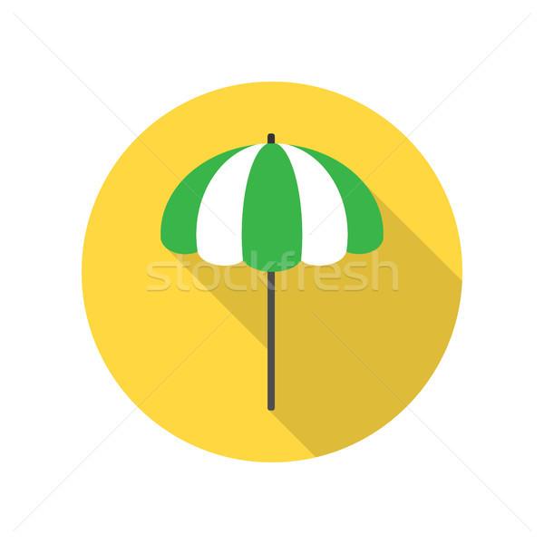 Napernyő ikon tengerpart napernyő csíkos citromsárga Stock fotó © robuart