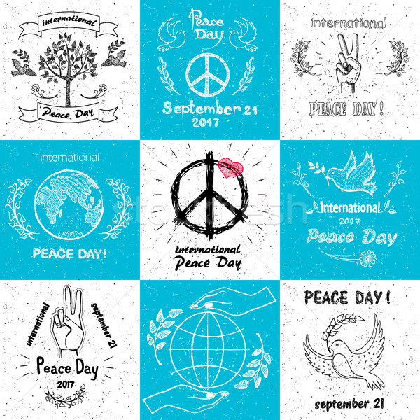 International Peace Day september 21 Set of Vector Stock photo © robuart