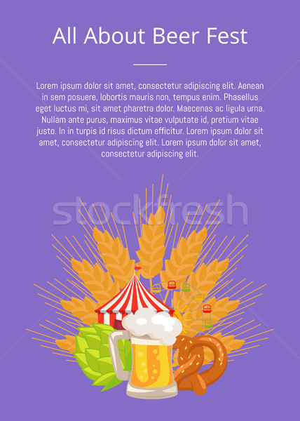 All about Fest Poster with Food Set German Bakery Stock photo © robuart