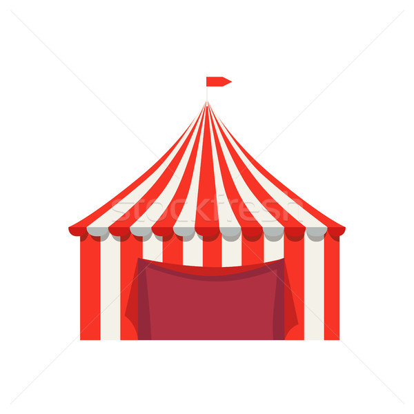 Striped Tent for Selling food Products with Flag Stock photo © robuart