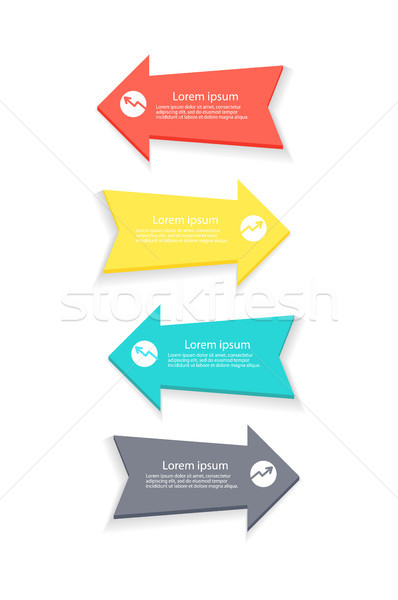 Arrows for Forming Statistics Vector Illustration Stock photo © robuart
