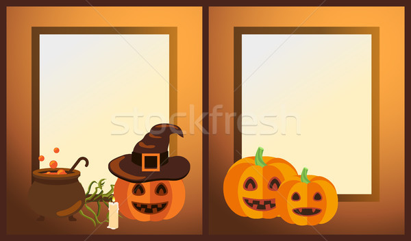 Vide halloween photo cadres Photo stock © robuart