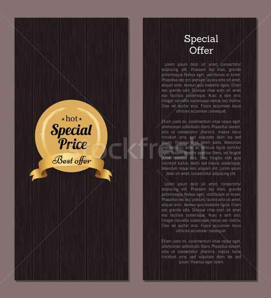Special Price Best Offer Hot Golden Label Seal Stock photo © robuart