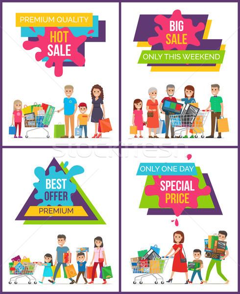 Caliente venta especial precio personas establecer Foto stock © robuart