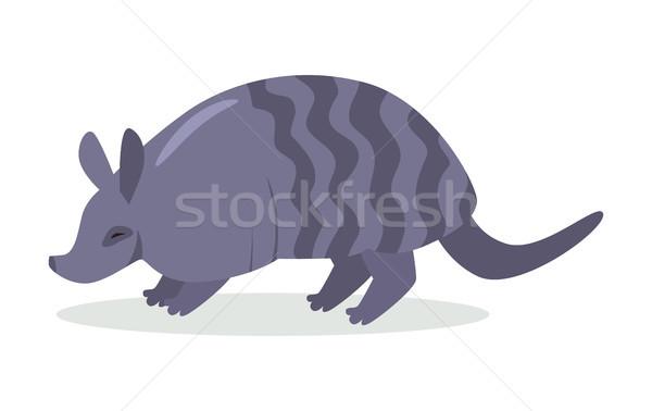 Armadillo Cartoon Icon in Flat Design Stock photo © robuart