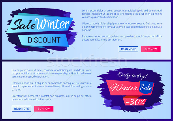 Sale Winter Discount Inscription on Ribbon Posters Stock photo © robuart