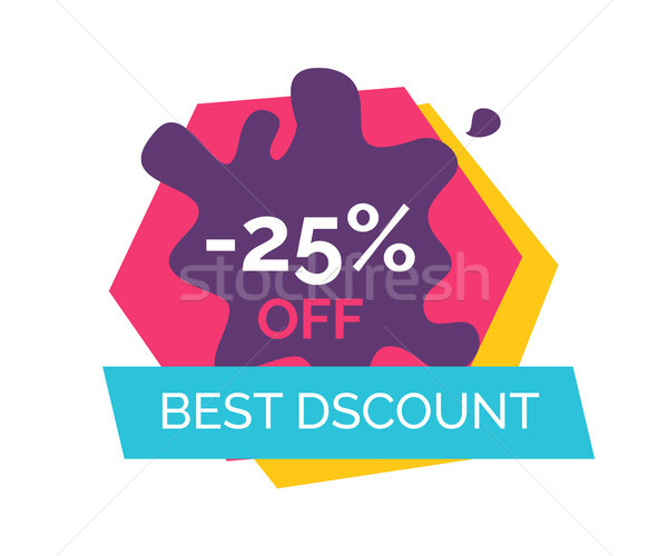 -25 Off Best Discount Label Vector Illustration Stock photo © robuart