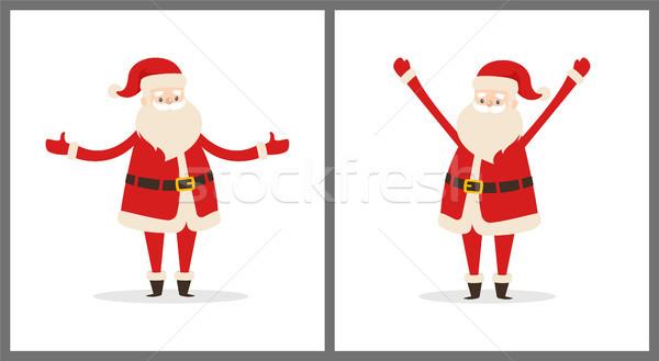 Happy Smiling Santa Claus Vector Illustration Stock photo © robuart