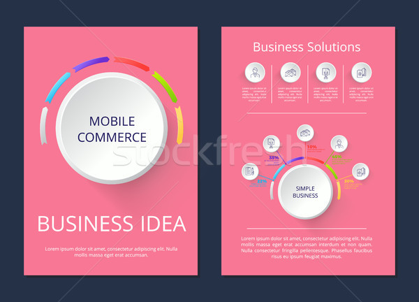 Mobile Commerce Business Idee Lösung Plakate Stock foto © robuart