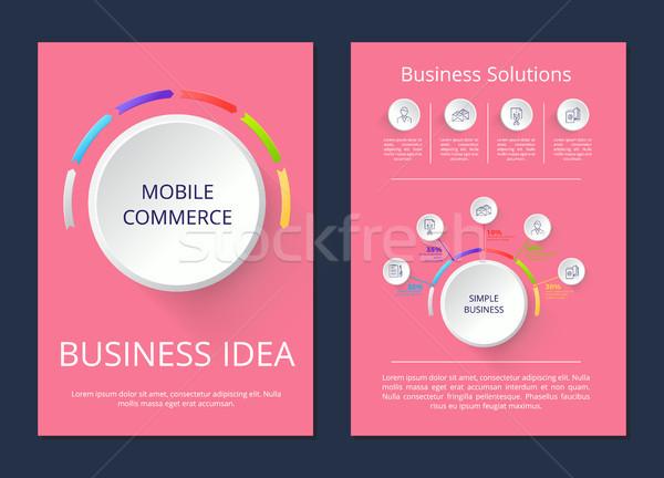 Stock photo: Mobile Commerce, Business Idea Vector Illustration