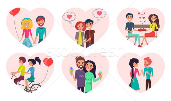Couples Time Together Love Vector Illustration Stock photo © robuart