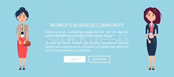 Women s Business Community Vector Illustration Stock photo © robuart