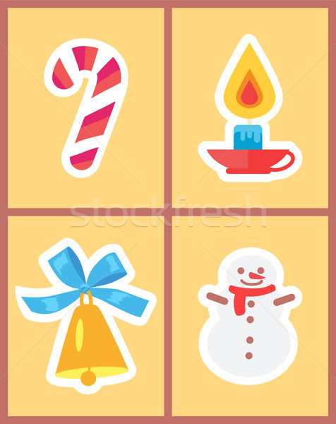 Wintertime Holidays Icons Vector Illustration Stock photo © robuart