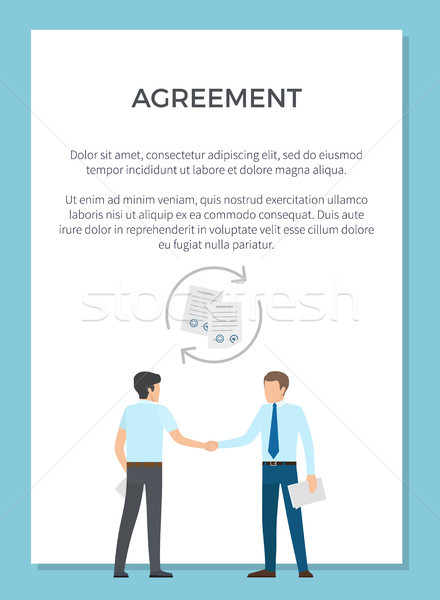 Agreement Visualization Poster Vector Illustration Stock photo © robuart