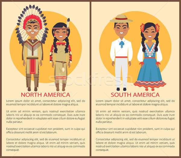 South and North America People Culture and Customs Stock photo © robuart