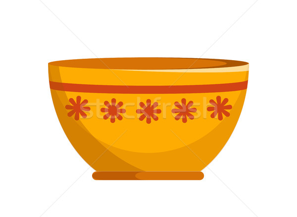 Capacious Ceramic Bowl with Small Flowers Pattern Stock photo © robuart
