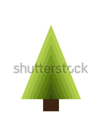 Abstract New Year Tree Made of Triangles and Trunk Stock photo © robuart