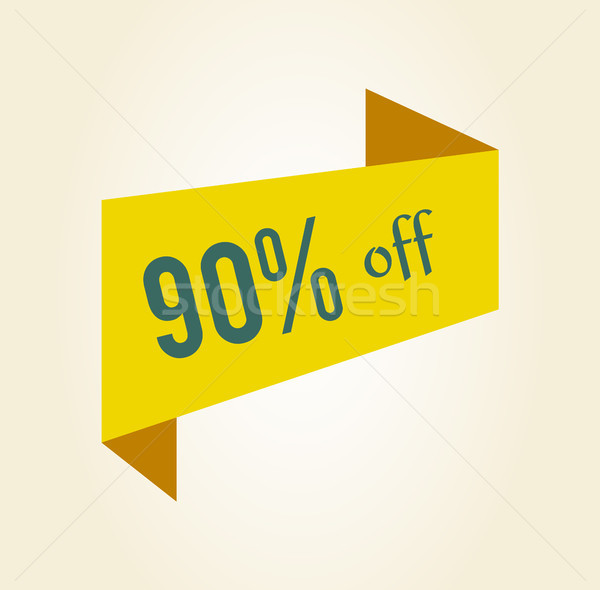90 off Discount Clearance Tag Vector Illustration Stock photo © robuart