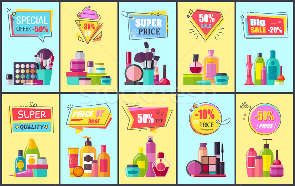 Special Offer for Cosmetic Means and Makeup Tools Stock photo © robuart