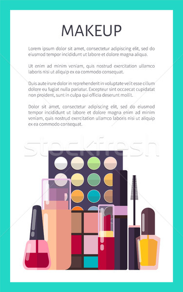 Makeup Placard and Text Vector Illustration Poster Stock photo © robuart
