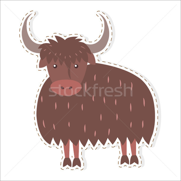Bonitinho desenho animado vetor adesivo ícone engraçado Foto stock © robuart