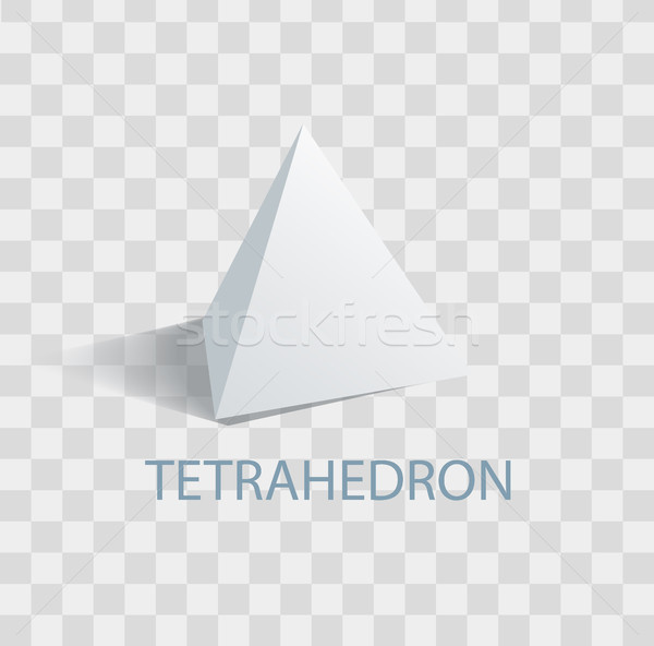Tetrahedron Geometric Figure with Sharp Angles Stock photo © robuart
