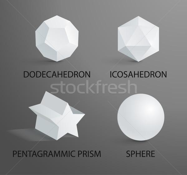 Prizma küre 3D geometrik haber başlıkları Stok fotoğraf © robuart