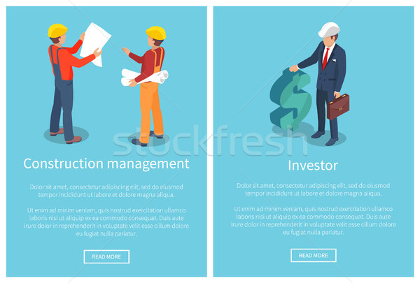 Construction Management Page Vector Illustration Stock photo © robuart