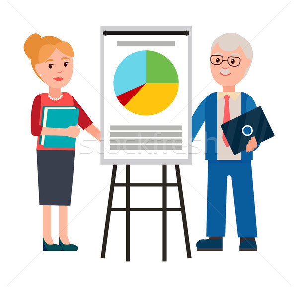 Man and Woman Business Forum Vector Illustration Stock photo © robuart